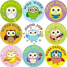 Fancy Land Owl Reward Stickers for Kids Teacher Motivational 200Pcs Per Roll