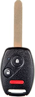 cciyu Replacement Uncut Ignition Key Keyless Entry Car Remote Transmitter Fob 1 X 3 Buttons Replacement fit for Honda CRV/Accord Coupe/Accord Crosstour/Insight/FIT MLBHLIK-1T