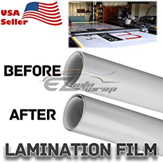 "Gloss Cold Laminating Self Adhesive Film Glossy Clear Monomeric 3 mil Lamination Poster Sign Decal Document - 60""X480"" (5FT X 40FT)"
