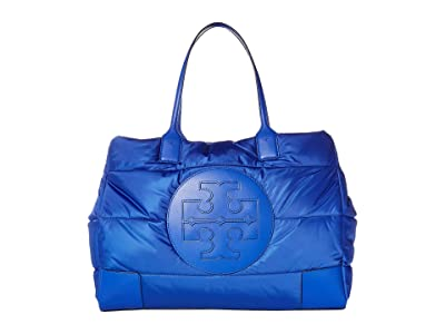 Tory Burch Ella Puffer Tote (Nautical Blue) Handbags