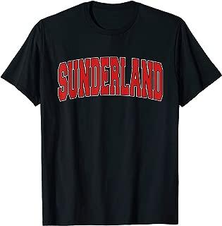 SUNDERLAND Varsity Style Vintage Retro UK Sports T-Shirt