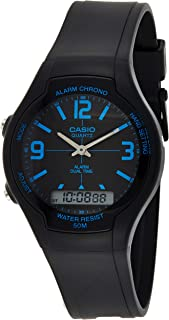 Casio Men's Black Dial Resin Analog-Digital Watch - AW-90H-2BVDF