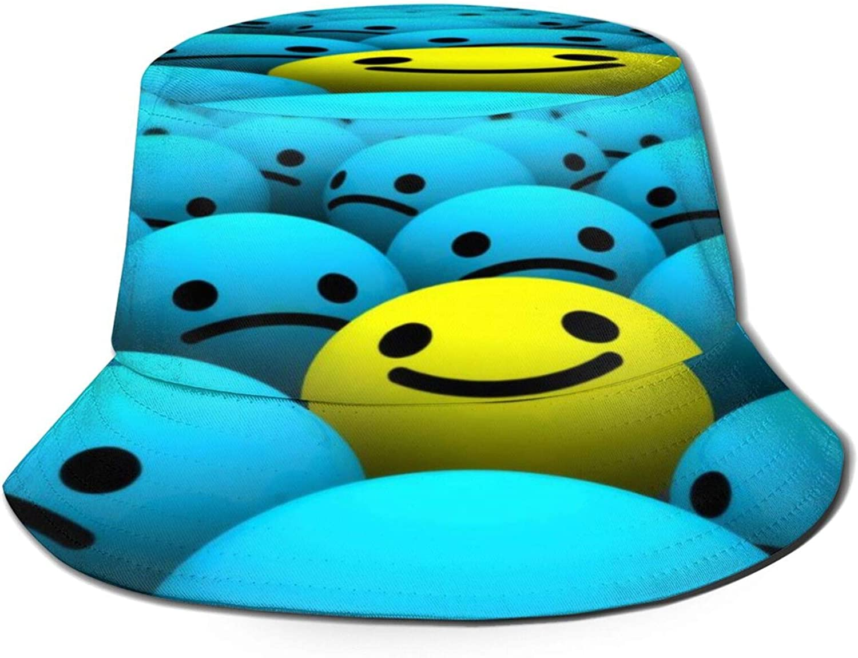 Humor Smiley Bucket Hat Max 85% OFF mart Unisex Summer Sun Packable Fisherman