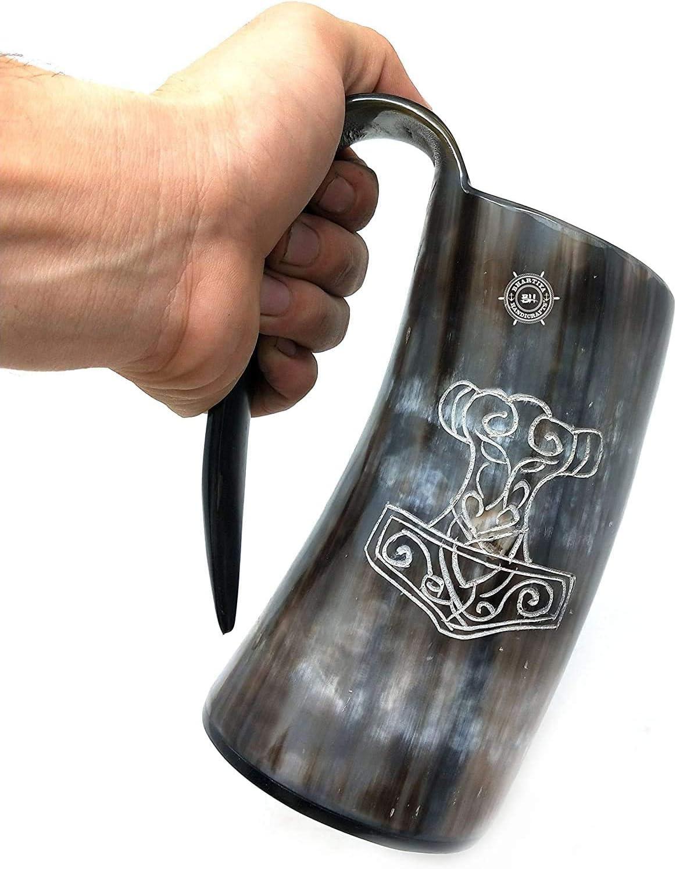割り引き Brainmart 内祝い Goblets Glass 100% Authentic Viking Drinking Horn mug