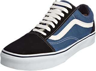Vans Unisex Old Skool Skate Shoes, Navy/White, 9 M US...