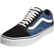 Unisex Old Skool Skate Shoes, Navy/White, 9 M US Men/10.5 M US Women