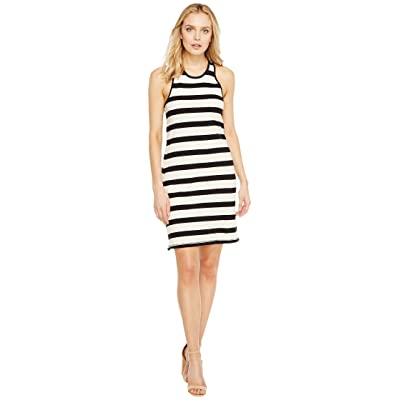 Splendid Racer Tank Dress (Black/Cream) Women