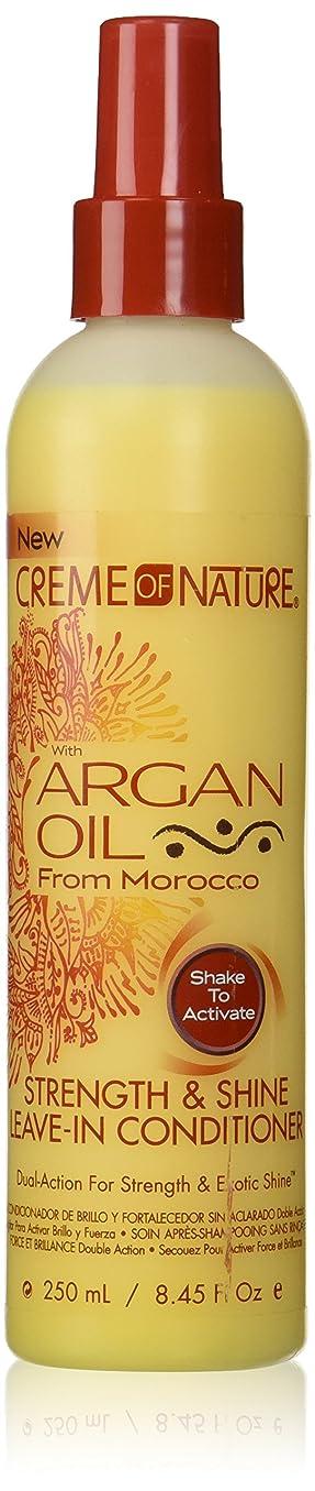 くるくる巻き戻す収穫Creme of Nature Argan Oil Conditioner Leave-In 250 ml (並行輸入品)