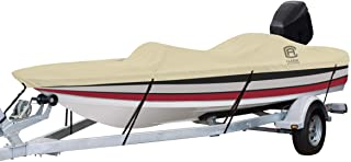 """Classic Accessories DryGuard Heavy Duty Waterproof Boat Cover For Bass Boats 16` - 18.5` L Up to 98"""" W"""