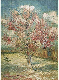 1000 Pieces Puzzle Peach Blooming by Vincent Van Gogh, Oil Painting Peach Blossom Tree Home Art Child Adult Decompression ...