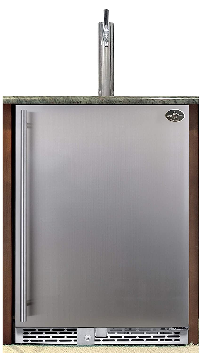 Beer Meister Single Tower with kegerator Excellent Door Built-in Don't miss the campaign Stainless