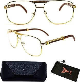 9fddfd083815 Premium Square Rectangular Aviator Metal Shape Optical Gold Reading Glasses  Reader