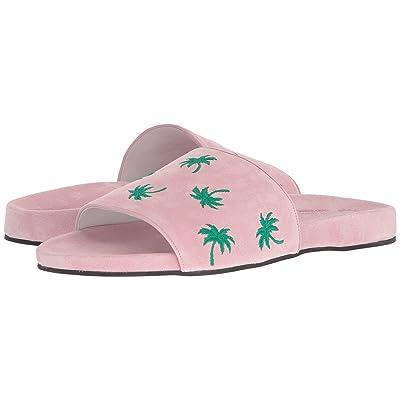 Del Toro Suede Pool Slide (Pink Palm) Men