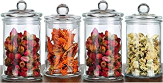 Glass Storage Jar Sealed Moisture-proof Food Storage Jars With Lid 750 ml Glass Jar (4 pieces in one set)