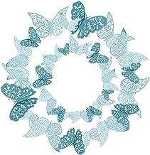 36 piezas Azul Mariposas 3D Mariposas Decorativas Pegatinas de Pared Arte Tatuajes de DIY Dormitorio Para el Hogar Baño Sa...