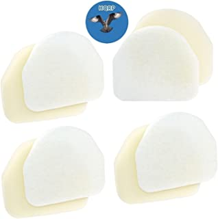 HQRP 4-Pack Foam & Felt Filter Kit fits Shark Navigator NV100, NV100 26, NV105, NV106, UV300, UV300 26 Upright Vacuum Cleaner Coaster
