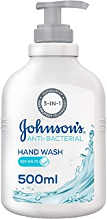 JOHNSON'S, Hand Wash, Anti-Bacterial, Sea Salts, 500ml
