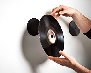 Twelve Inch Adapter - Invisible Vinyl On Your Wall Display - Show Your Vinyl Record As Artwork - no Frames or Visible Support - Show off the Vinyl Only With Minimalistic Danish Design