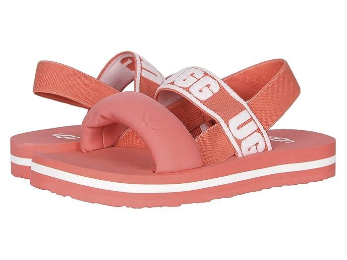 UGG Kids  Zuma Sling (Little Kid/Big Kid) (Pop Coral) Girls Shoes
