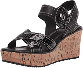 Donald J Pliner Women's Wedge Sandal, BLACK, 9.5
