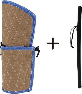 Sweet Devil Bite Sleeve Dog Training Arm Protection+PU Leather Whip Agitation Stick Kit