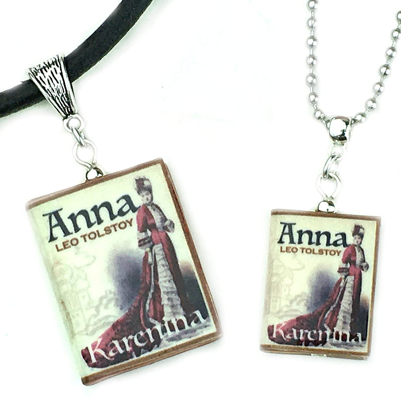 Anna Karenina Leo Philadelphia Mall Tolstoy Ranking TOP9 Clay Mini Pendant Pi Necklace Book You