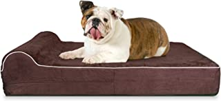 5.5-inch Thick High Grade Orthopedic Memory Foam Dog Bed With Pillow and Easy to Wash Removable Cover with Anti-Slip Botto...