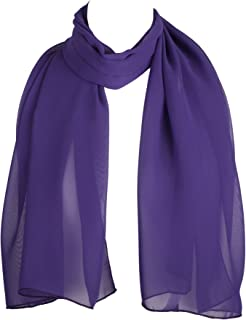 HatToSocks Chiffon Scarf Sheer Wrap for Women