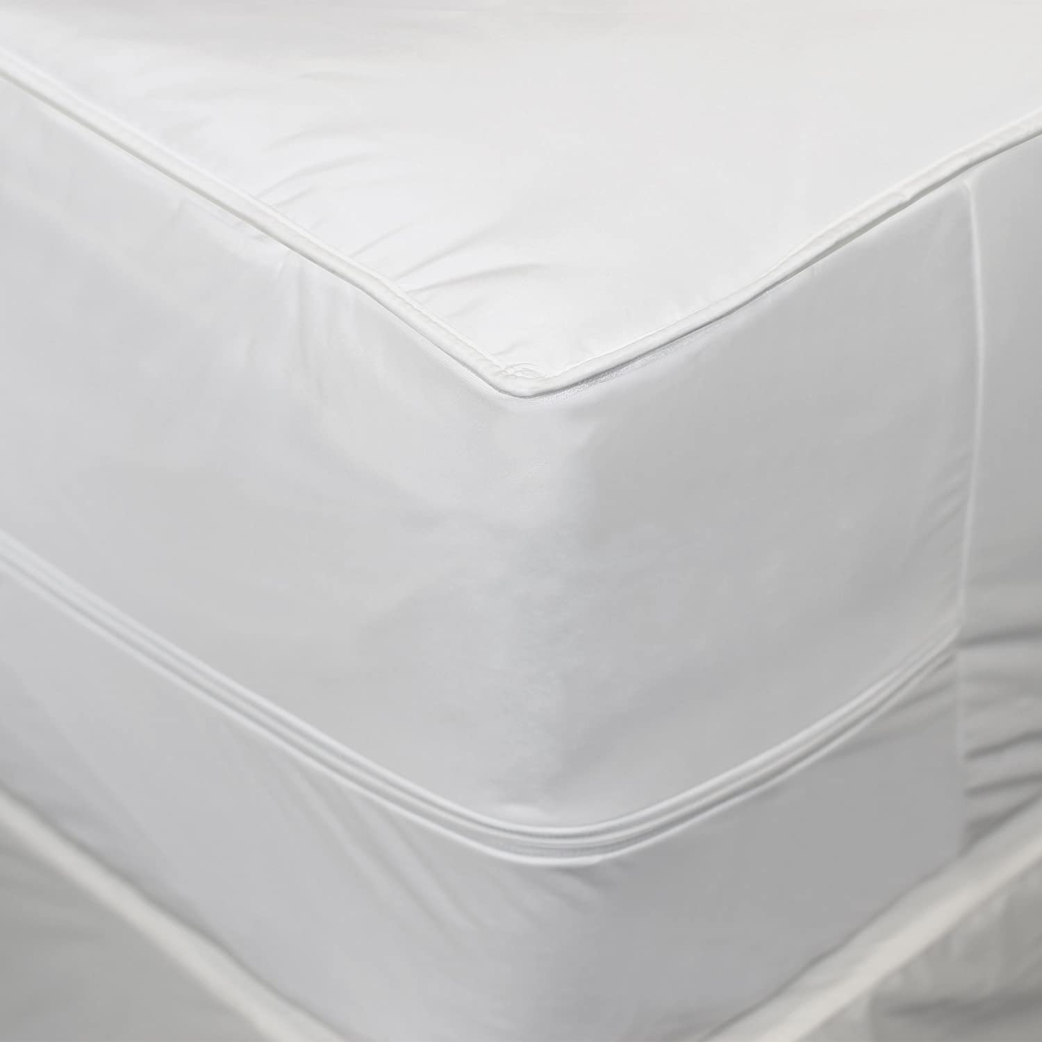 Aller-Ease 2-in-1 Mattress Pad with Removable Hot Water Washable Top Pad, California King