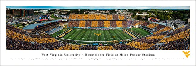 West Virginia Football, Stripe - College Posters, Framed Pictures and Wall Decor by Blakeway Panoramas