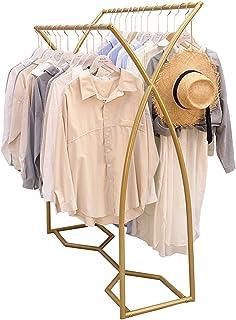 sans marque JIE- Style Nordique Simple Vêtements en Métal Suspendus Rail Porte-vêtements Debout Double Tige Porte-Placard ...