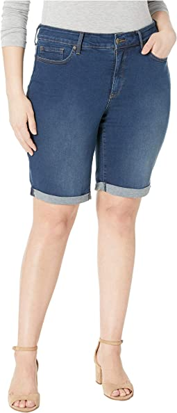 Plus Size Briella Cuff Roll Shorts in Cooper