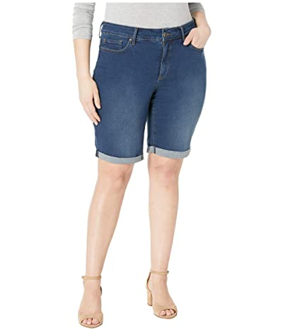 NYDJ Plus Size Plus Size Briella Cuff Roll Shorts in Cooper (Cooper) Women