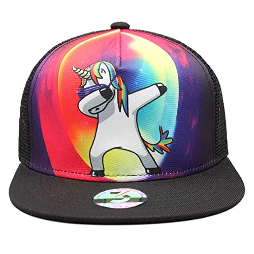 72071dbf91967 Odelia Walter Unicorns Skull Flag Flat Bill Snapbacks Baseball Caps Trucker  Hat