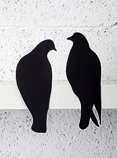 Artori Design Lovebirds   Decorative Art Metal Birds   Silhouettes Plaque   Romantic Presents Romantic Gifts for Her Pair of Doves