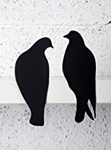 Artori Design Lovebirds | Decorative Art Metal Birds | Silhouettes Plaque | Romantic Presents Romantic Gifts for Her Pair of Doves