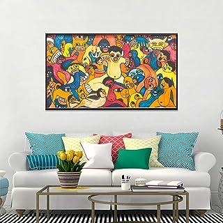 ganlanshu Peinture sans Cadre Abstrait Graffiti Affiche et Impression Murale de Salon..