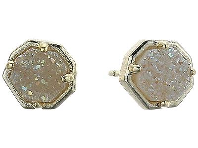 Kendra Scott Nola Stud Earrings (Gold/Iridescent Drusy) Earring