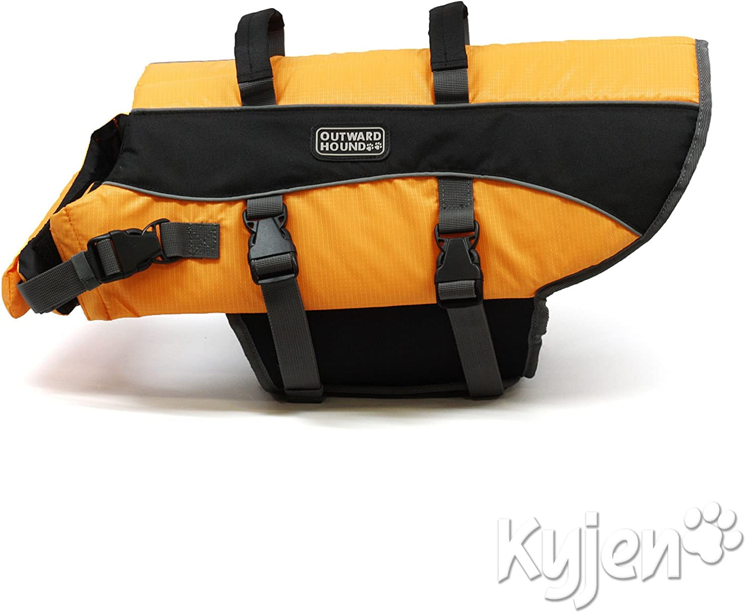 Outward Hound Kyjen Ripstop Adjustable Dog Life Jacket with Rescue Handle