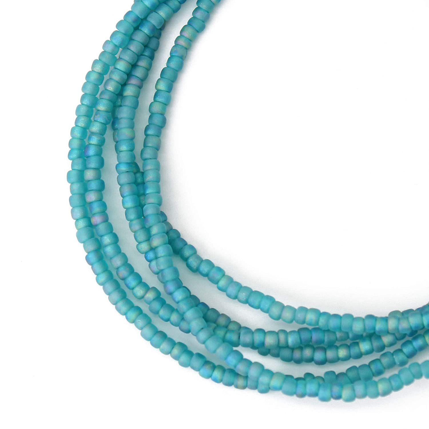 Matte Transparent Turquoise Seed New Free Cheap mail order shopping Shipping Bead Single S Necklace Strand