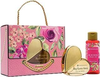Flor de Mayo Bolso Big Cuore Set Regalo en Forma de Bolso con Eau de Parfum Gold Big y Crema de Manos