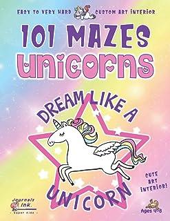 Unicorn Maze Book for Girls 4-8: 101 Puzzle Pages. Custom Art Interior. Cute fun gift! SUPER KIDZ. Dream Star.