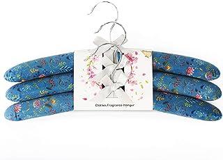 Qingbei Rina ナノテクノロジー フレグランス キャンバス パッド ハンガー ハイエンド 繊細 服用 (3パック) ケルン 香り メンズ用 15.5インチ ブルー