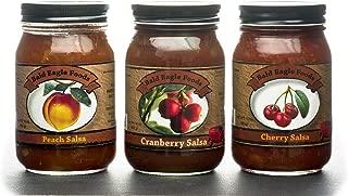 Cherry, Cranberry, and Peach Salsa Trio