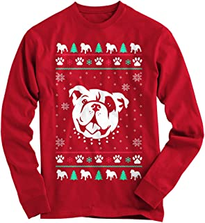 Gnarly Tees Men's Bulldog Ugly Christmas Sweater