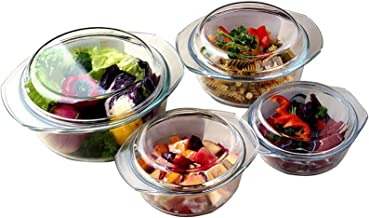 Multifunctional Tempered Glass Tableware With Lid, Can Withstand High And Low Temperatures Of -20 To 400 Degrees, Sufficie...