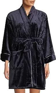 Dotted Stripe Plush Short Robe