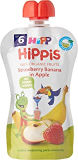 Hipp Organic Strawberry Banana In Apple Pouch, 100g