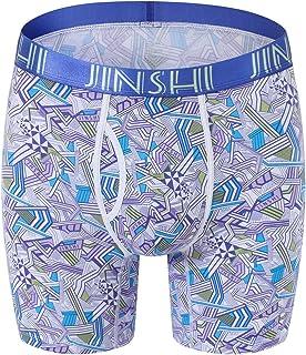 EEYAGEN Bamboo Mens Underwear Performance Boxer Briefs for Men Long Leg No Ride Up