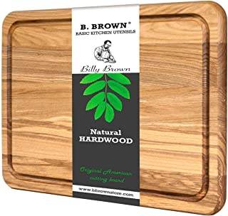 Wood Cutting Board B.Brown Original American Cutting Board Great For Serving and Chopping (9.4x13.5 In)
